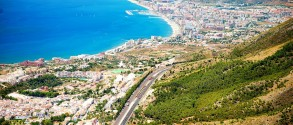 Aerial Panoramic View of Costa del Sol, Benalmadena, Spain